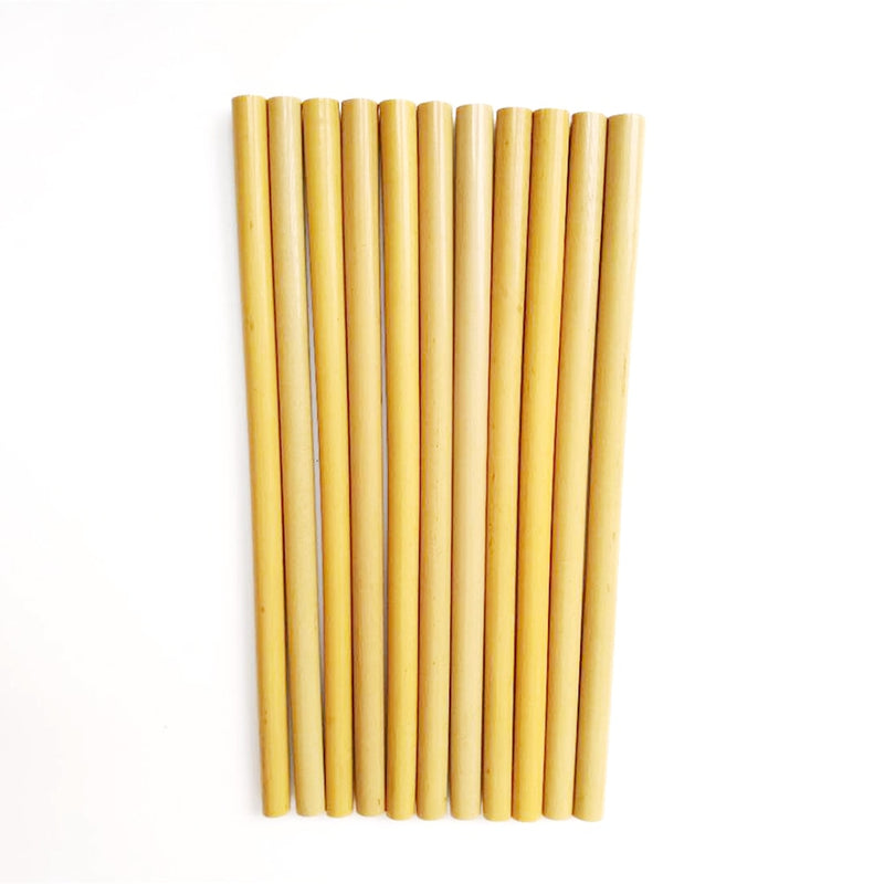 Natural Bamboo Drinking Straws Set