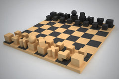 Bauhaus chess board