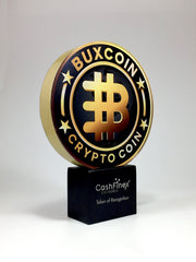 Golden coloured cryptocurrecny award