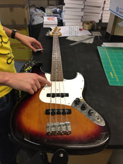Ross working on the workshop bass
