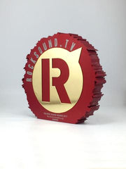 Roksound Tv award in red by creative awards