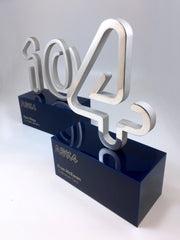 custom award trophy made form numbers