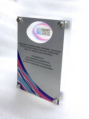 metal wall plaque for rugby world cup