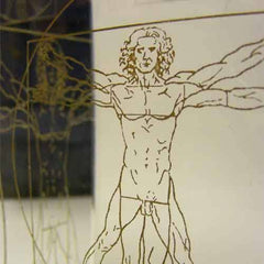 Vitruvian Man Glass Award