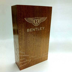 Hand sculpted wood award for Bentley by Creative Awards