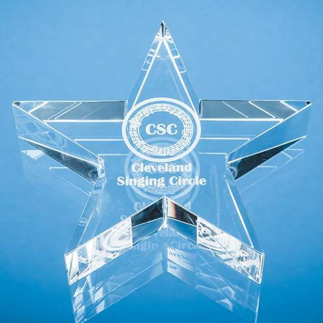 10.5cm Optical Crystal Star Paperweight Creative Awards
