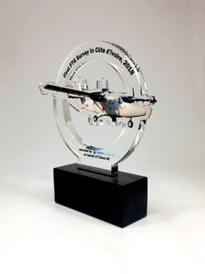 Acrylic Aeroplane Award Bespoke Acrylic Awards Creative Awards