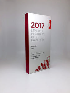 Acrylic and Aluminium Platinum Partner Award Bespoke Mixed Media Awards Creative Awards