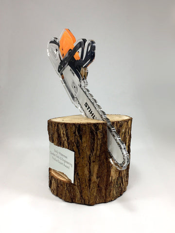 log and chainsaw award
