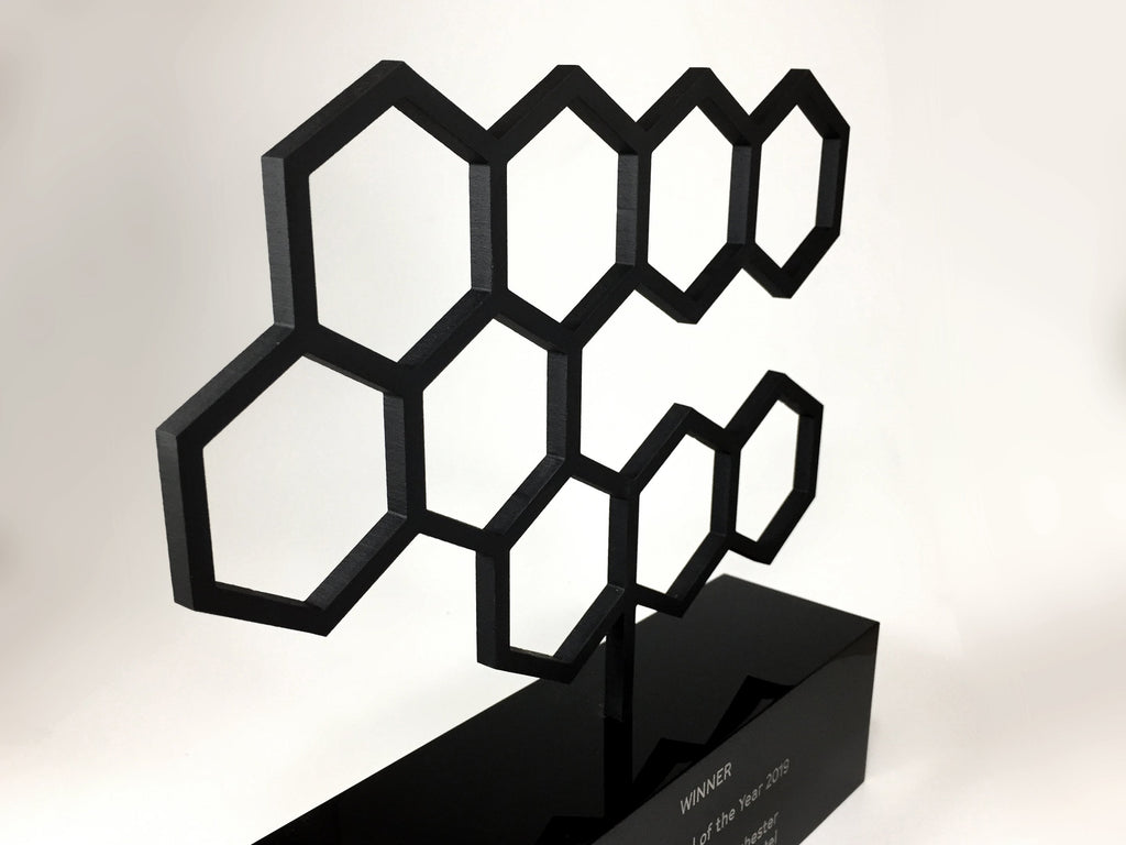 Custom made black acrylic award