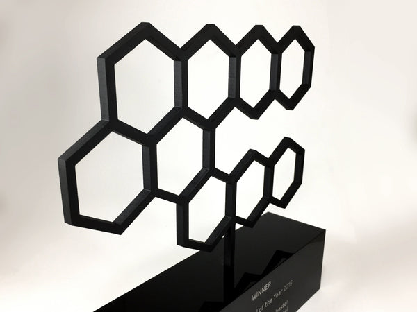 Black Hexagon Award Bespoke Acrylic Awards Creative Awards