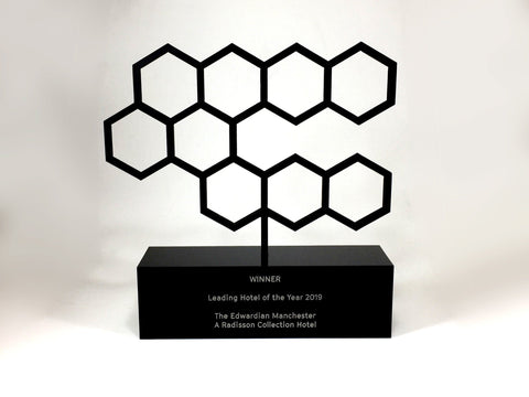 Black perspex lattice award