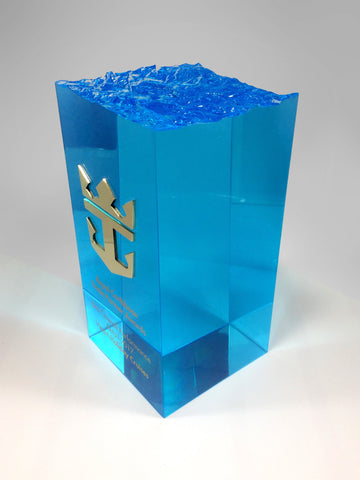Caribbean Blue Wave Block Bespoke Mixed Media Awards Creative Awards
