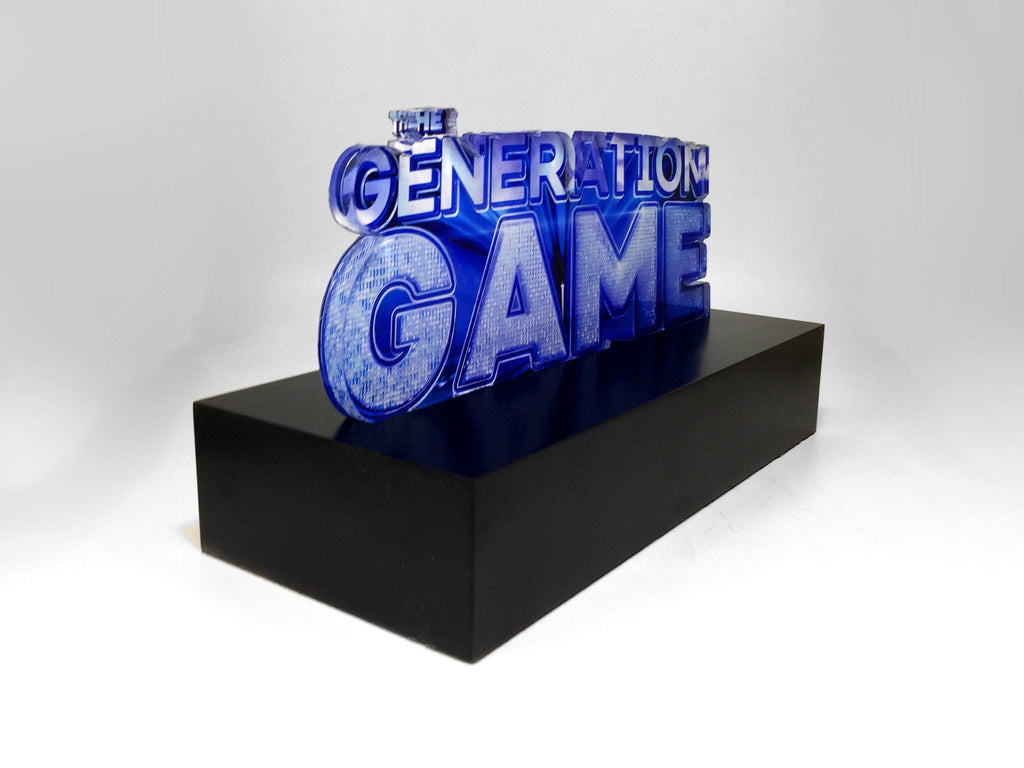 The Generation Game bespoke acrylic trophy