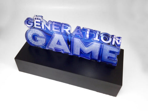 Bespoke acrylic trophy for The Generation Game