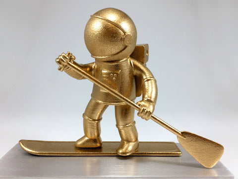 Gold 3D Printed Paddle Man Award Bespoke Mixed Media Awards Creative Awards