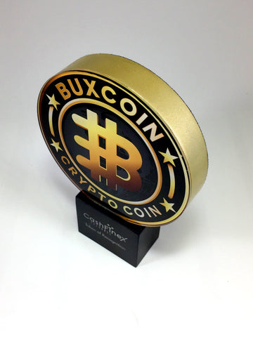 coin themed metal award