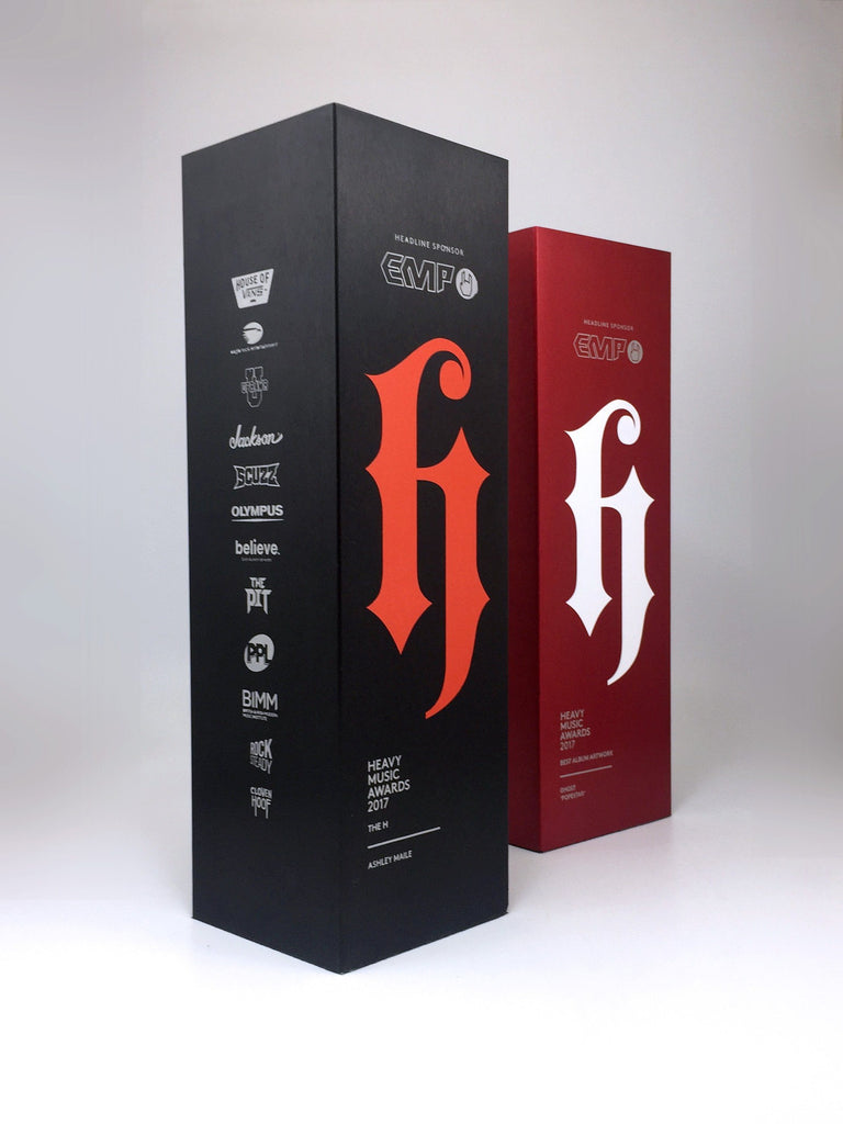 Red and black rectangular custom made aluminium award creative awards