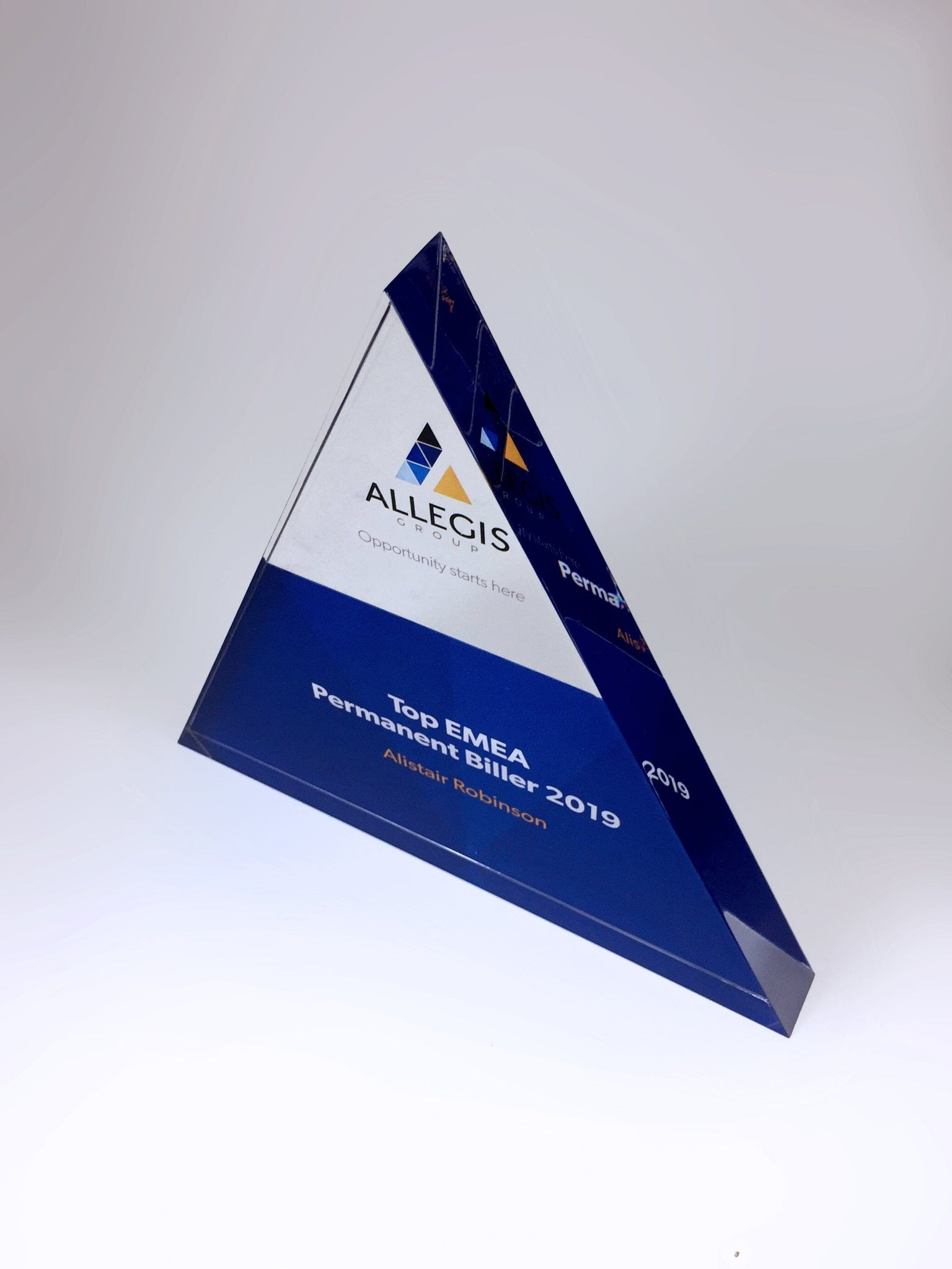 Isosceles Acrylic Triangle Award Creative Awards