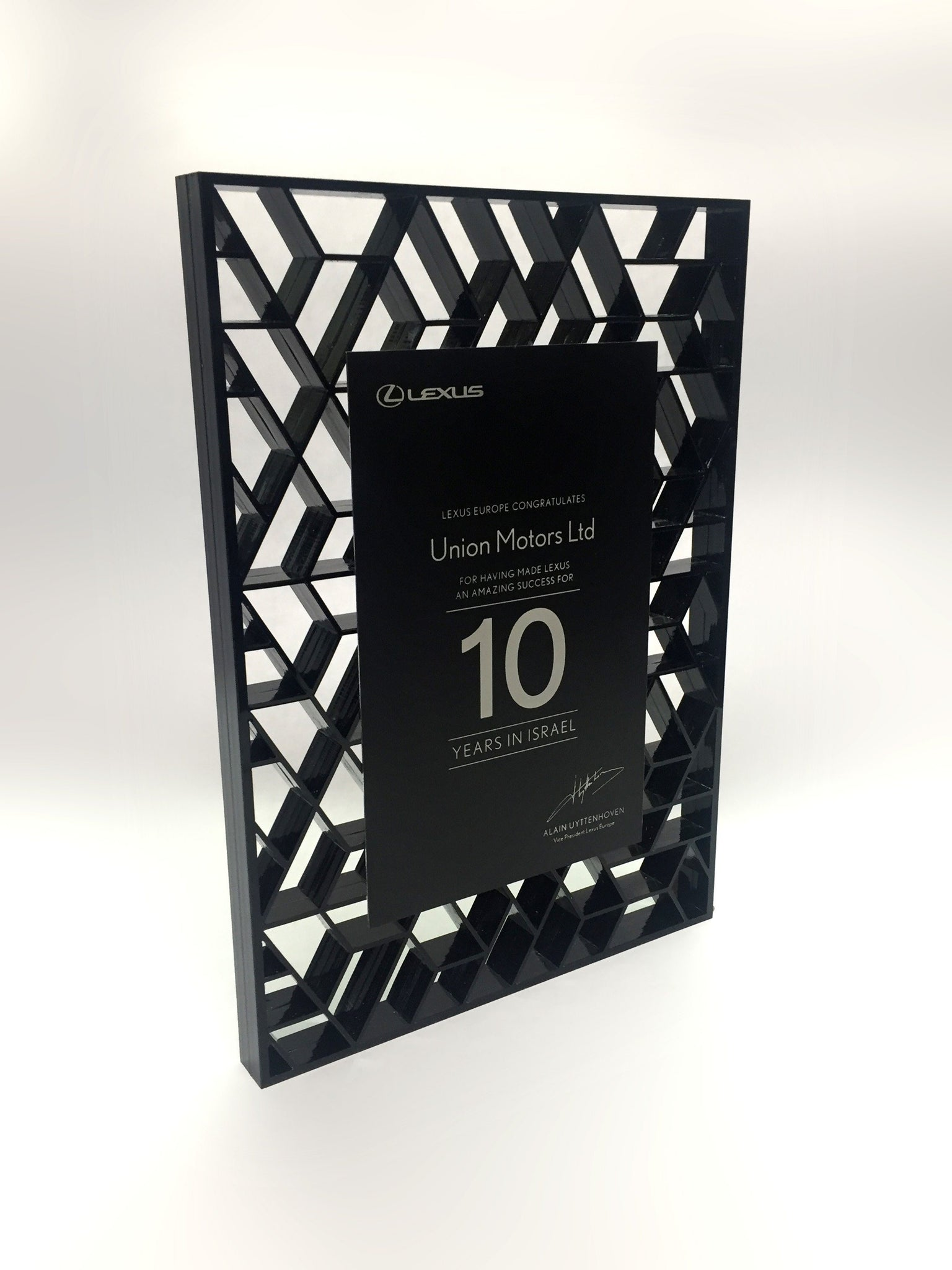 Lexus Acrylic Lattice Awards Bespoke Acrylic Awards Creative Awards