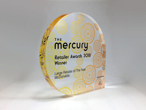 Mercury Acrylic Teardrop Award Bespoke Acrylic Awards Creative Awards