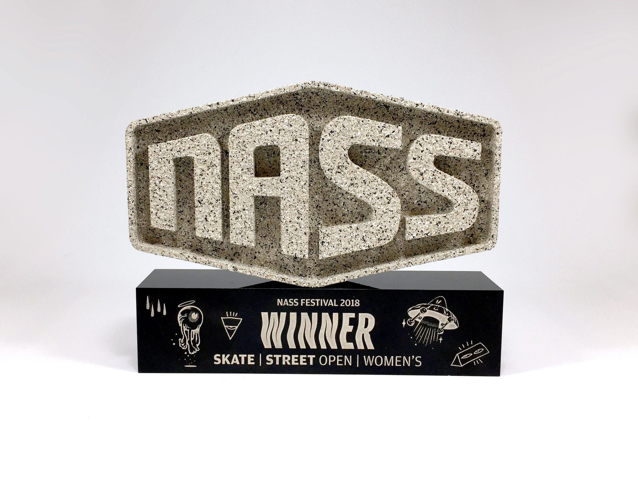NASS Stone Award Bespoke Mixed Media Awards Creative Awards