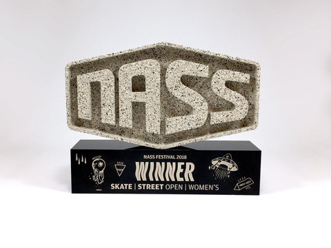 custom made award for the nass festival
