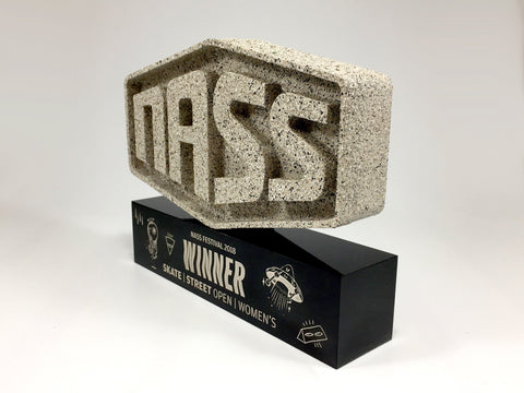 stone and acrylic award for the Nass festival