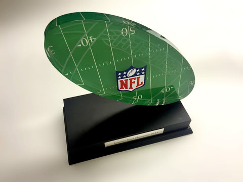 NFL Acrylic Football Award Bespoke Mixed Media Awards Creative Awards