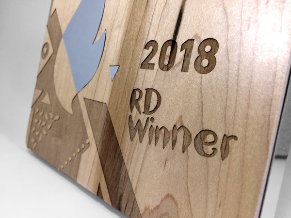 Nando's Burnt Wood Award Bespoke Wooden Awards Creative Awards