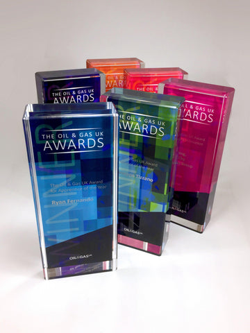 Oil and Gas Acrylic Block Award Bespoke Acrylic Awards Creative Awards