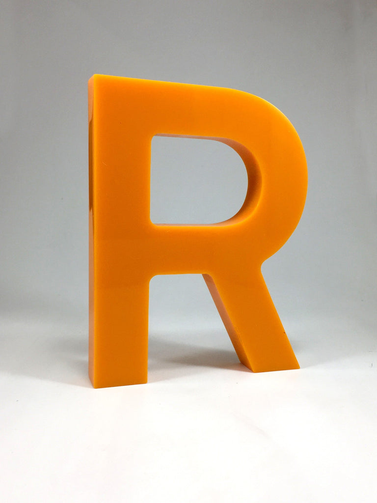 Orange Acrylic R Award Bespoke Acrylic Awards Creative Awards