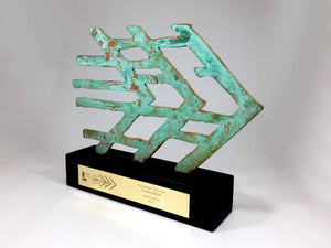 Patinated Copper Award Bespoke Mixed Media Awards Creative Awards