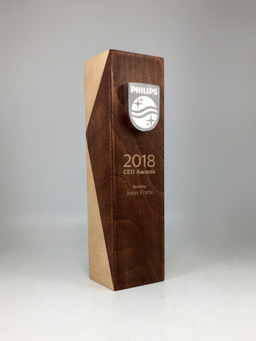 Philips Angled Wood and Shield Award