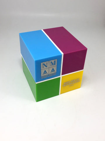 Pop Art Coloured Perspex Block Bespoke Acrylic Awards Creative Awards