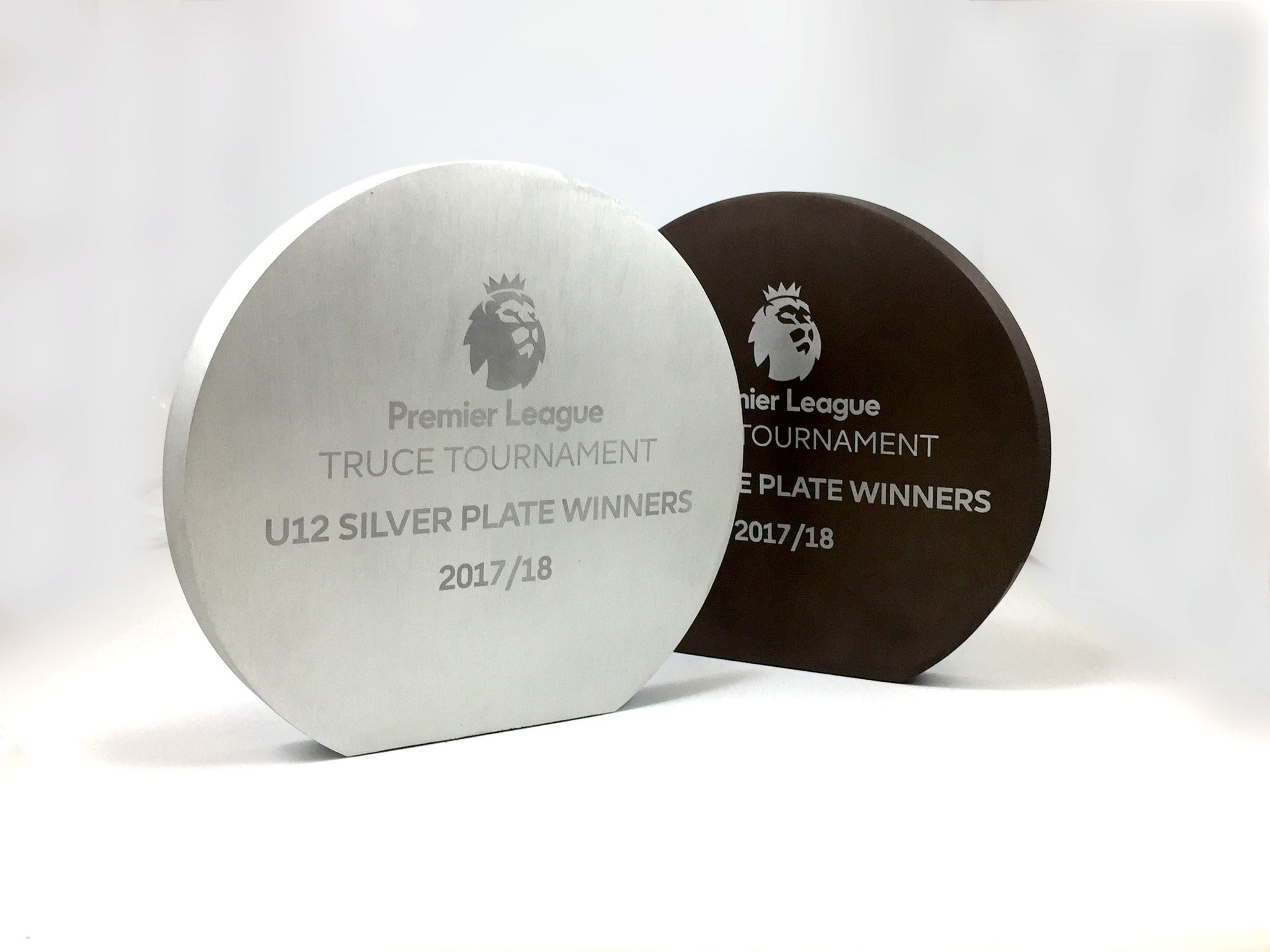 Premier League Bronze and Silver Discs Bespoke Metal Award Creative Awards