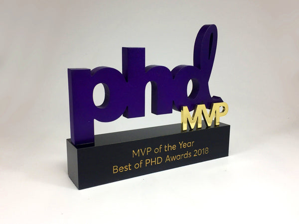 Purple PHD Award Bespoke Mixed Media Awards Creative Awards