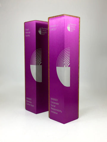 Purple Column with Wood Award