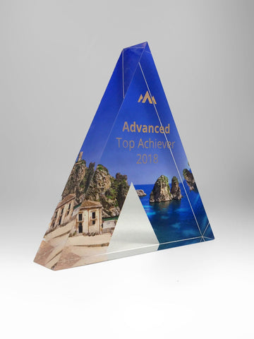 Acrylic Triangle Award Bespoke Acrylic Awards Creative Awards