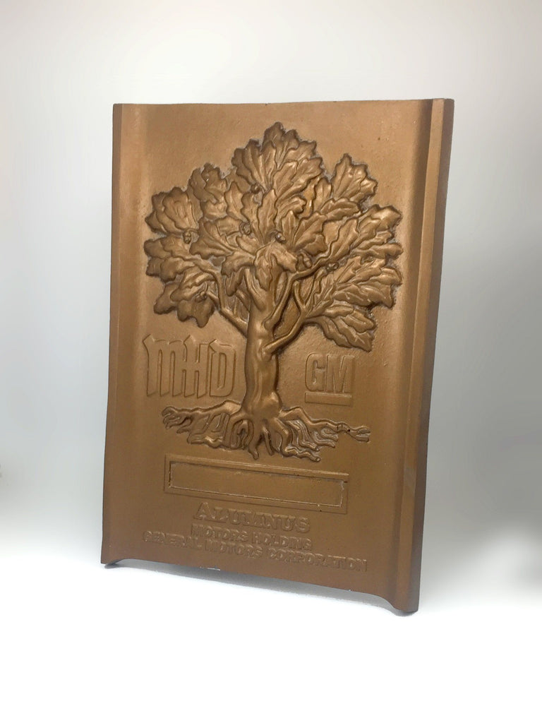 Bespoke resin wall plaque long shot Creative Awards