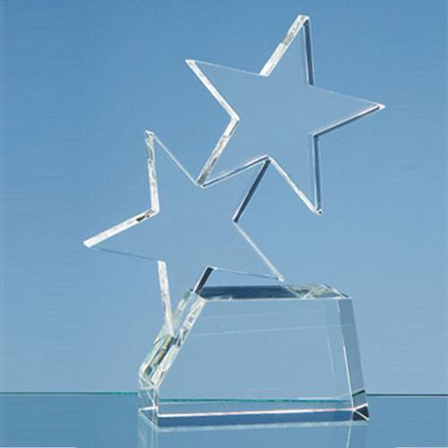 Double Rising Star Award Glass Awards Creative Awards