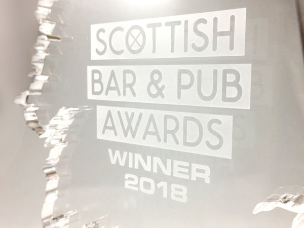 Scottish Bar and Pub Awards Bespoke Mixed Media Awards Creative Awards