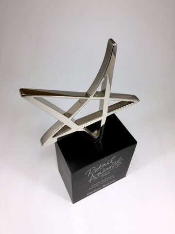 Silver Star Retail Awards Bespoke Metal Award Creative Awards