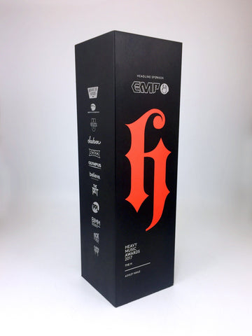 Black custom made metal award by Creative Awards