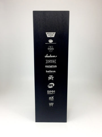 Black rectangular bespoke metal award by Creative Awards