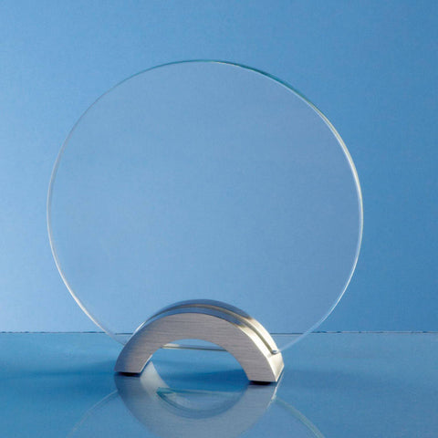 Clear Circle Mounted on Aluminium Stand Award
