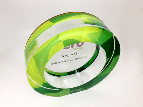 Acrylic Ring Award Bespoke Acrylic Awards Creative Awards