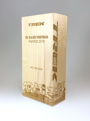 Trek Lasered Wooden Block Award