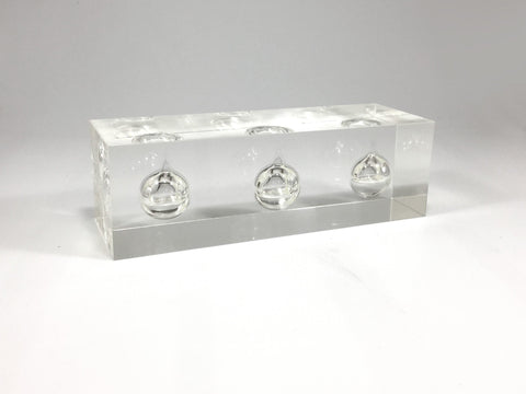 Triple Clear Oil Acrylic Block