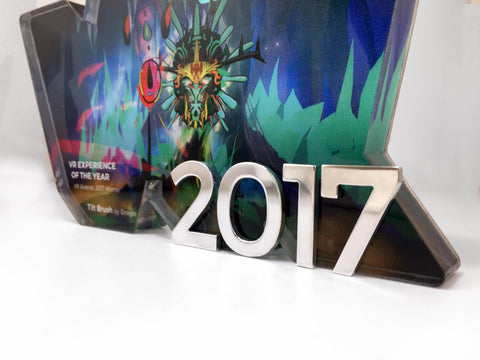 VR Bound Acrylic and Aluminium Award Bespoke Mixed Media Awards Creative Awards